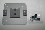 NEW HUMANSCALE M8 M2 SILVER VESA PLATE MONITOR BRACKET MOUNT 100x100MM M-FLEX W/HARDWARE